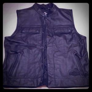 Black Harley-Davidson Snap Front Vest